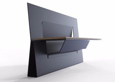 panchina da esterno con sedile in legno