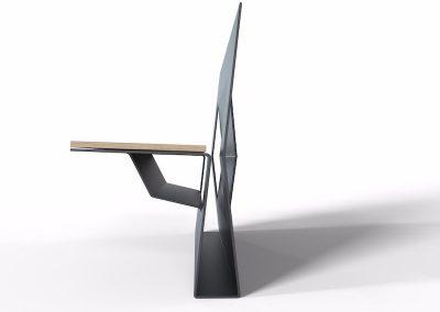 panchina da esterno particolare sedile
