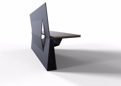 panchina da esterno sedile in legno