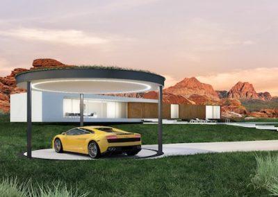 rendering garage esterno